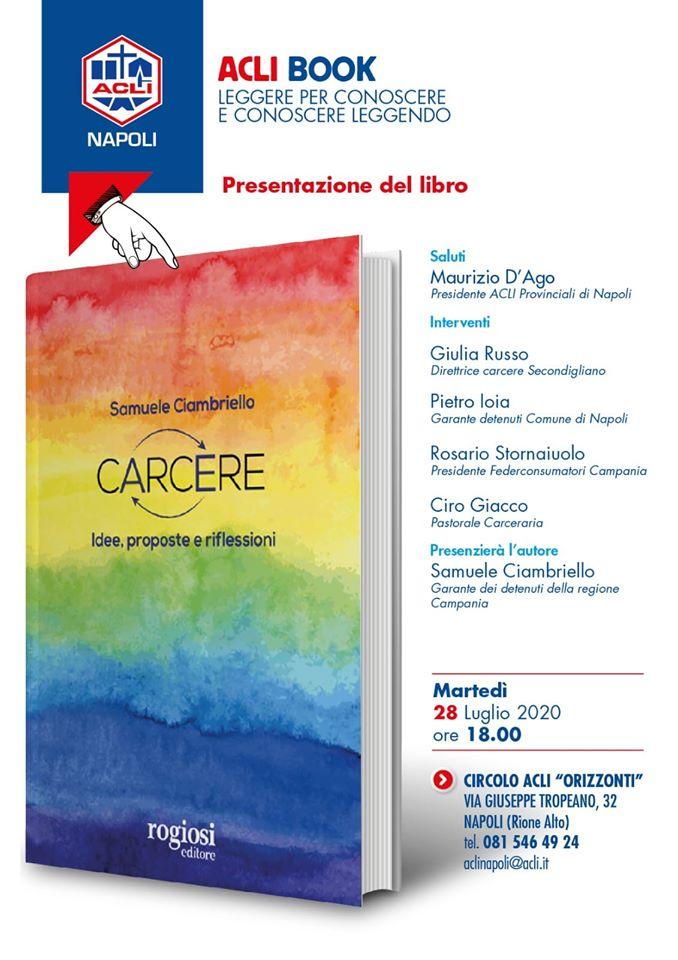 Napoli, domani la presentazione del nuovo libro di Samuele Ciambriello
