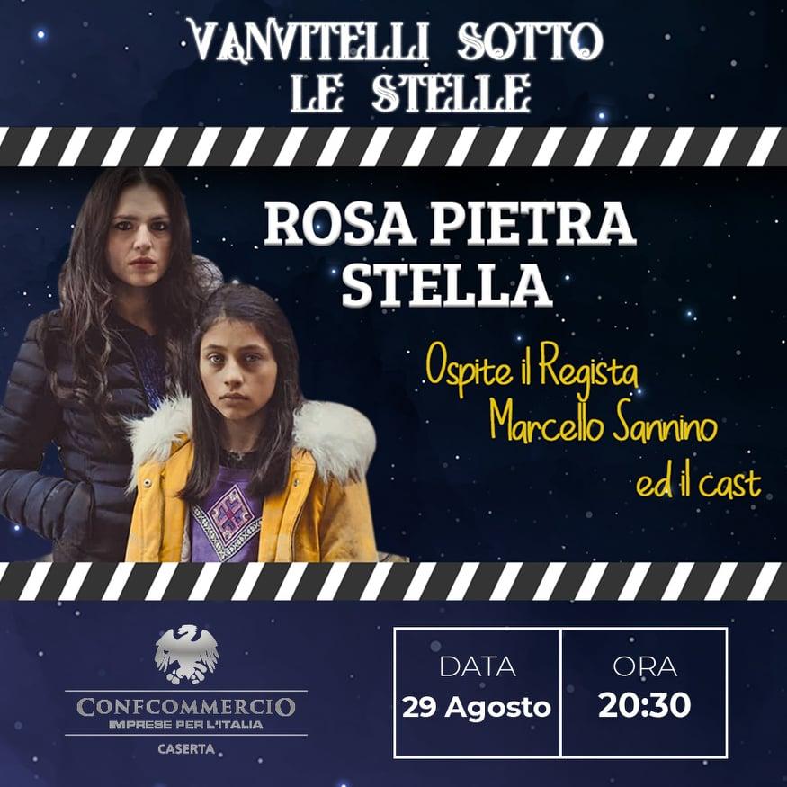 Il regista Sannino ospite di 'Vanvitelli sotto le stelle' con il film 'Rosa pietra stella'