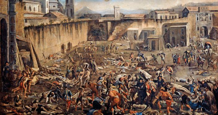 Peste e assembramenti a Napoli nel 1656