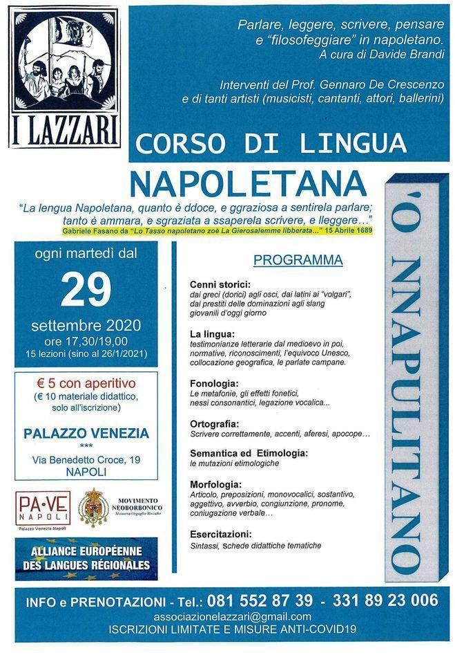Un corso gratuito di Lingua napoletana, per imparare dai Lazzari