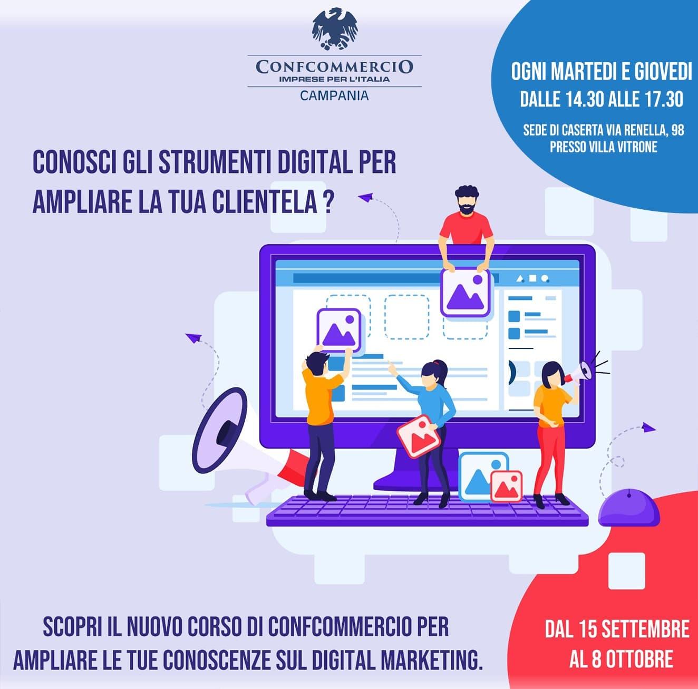 Da Confcommercio Caserta un corso di Digital Marketing per le aziende