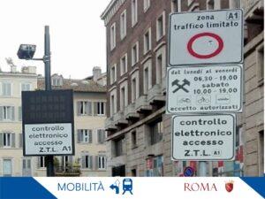 ROMA: RAGGI, ZTL APERTE TUTTO IL GIORNO DA DOMANI FINO AL 3/12