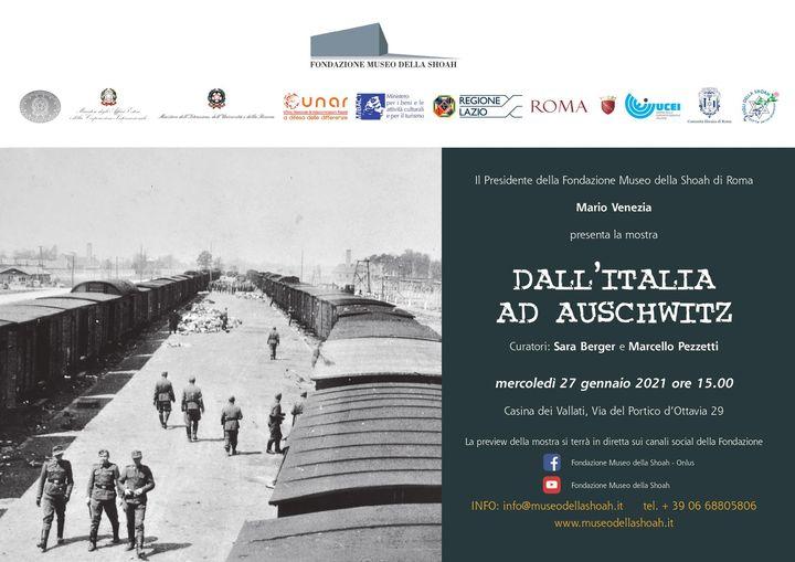 """PRESENTAZIONE MOSTRA """"DALL'ITALIA AD AUSCHWITZ"""" – FONDAZIONE MUSEO DELLA SHOAH – ROMA"""