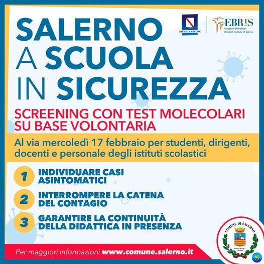 SALERNO, IN PARTENZA LA CAMPAGNA DI VACCINAZIONE MOLECOLARE