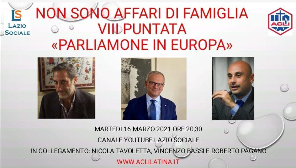 QUESTA SERA LA FAMIGLIA IN EUROPA