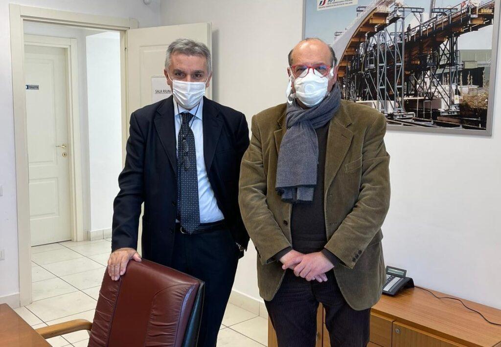 Il dott. Fernando Errico ha incontrato l'ing. Pagone Commissario straordinario per la Ferrovia Na-Ba