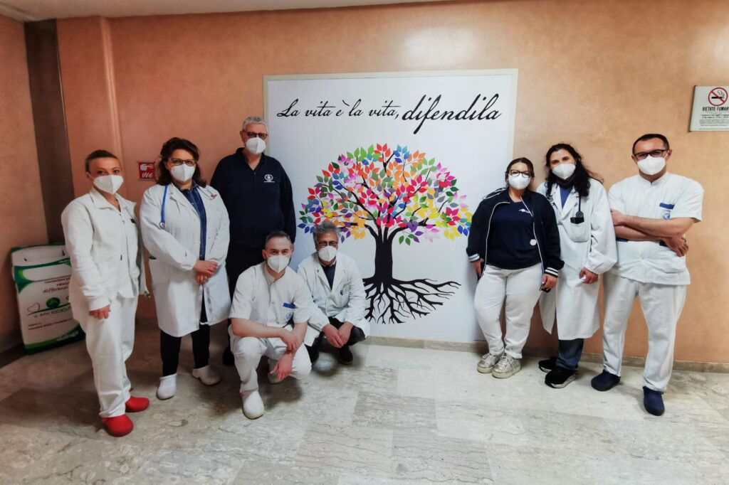 DAY HOSPITAL DI ONCOLOGIA DEL FATEBENEFRATELLI.IMMAGINE DELL'ALBERO DELLA VITA