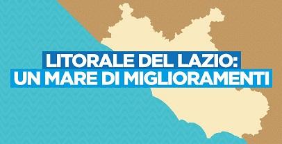 """""""UN MARE DI MIGLIORAMENTI"""": 21 MLN PER 14 PROGETTI DI RIQUALIFICAZIONE DEL LITORALE LAZIALE"""