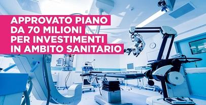 SANITÀ LAZIO: APPROVATO PIANO DI INVESTIMENTI IN AMBITO SANITARIO PER 70 MILIONI