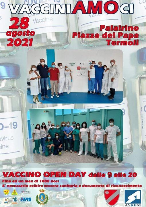 DOMANI OPEN DAY VACCINALE DALLE 8 ALLE 20 AQL PALAIRINO DI TERMOLI