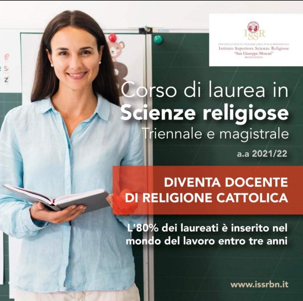 CORSO DI LAUREA IN SCIENZE RELIGIOSE: APERTE LE ISCRIZIONI PER L'ANNO ACCADEMICO 2021-2022